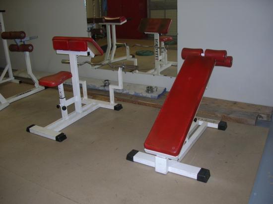 Bancs biceps et abdos