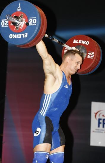 Benjamin Hennequin 170 kg à l'arraché