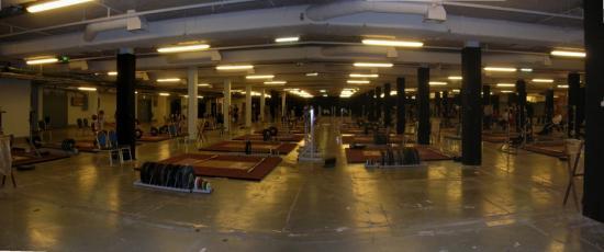 La salle d'entraînement 1500 m2