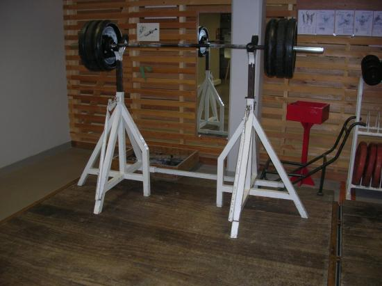 Supports barre à squatts